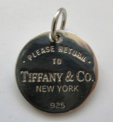 Rare Vintage Sterling Silver Pendant Please Return to - TIFFANY & CO.New York