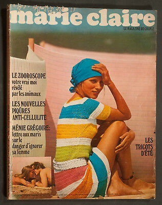 'Marie-Claire' French Vintage Magazine Summer Issue June 1970