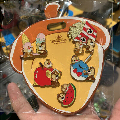 SHDR Disney Pin 2019 chip dale 5pins set Shanghai Disneyland exclusive