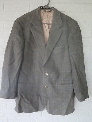 Brooks Brothers Camel Hair Blazer Size 40 Navy Green Houndstooth Att