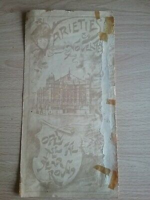 Music Hall And Variety Programme  For The London Palace Of Varieties Dated 1908