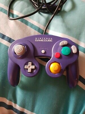 Purple & Clear Rare Official Genuine Nintendo GameCube Wired Controller