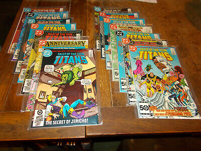 Tales of the Teen Titans (1980 series) Run of 14 issues 45 - 58 DC 1984 Ave VFN