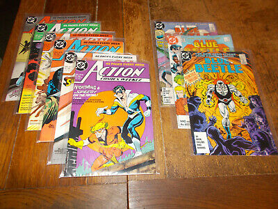 New Teen Titans - Blue Beetle 11 12 13 + Action 613 - 618 DC 1987 Nightwing