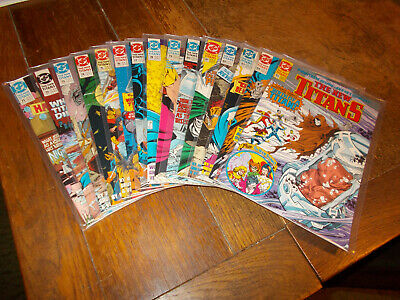 New Titans (1984 series) Run of 15 issues 71 - 85 DC 1990 Titans Hunt Ave VFN/NM
