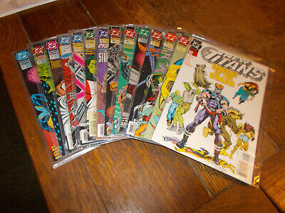 New Titans (1984 series) Run of 14 issues 101 - 114 DC 1993 Ave VFN+