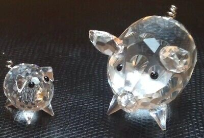 466a1d2b7 RARE Retired Swarovski Crystal Medium Pig / Wire Tail V2 010031 /mini Pig  7368