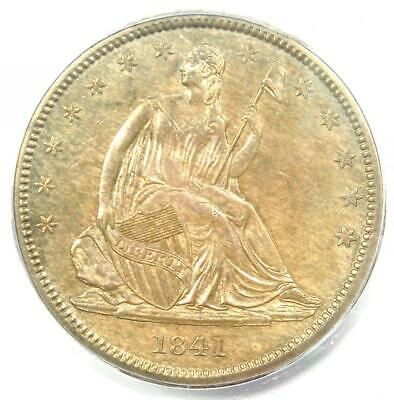 1841 Seated Liberty Half Dollar 50C - Certified ICG MS62 (UNC) - Rare Date!