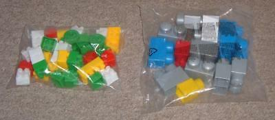 2 Bags Of Plastic Toy Building Bricks (IONIX & Other)