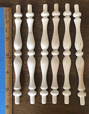 Wood Spindles Great For Crafts And Projects Six Inch ~ Lot of 1 Dozen. 12 Pieces