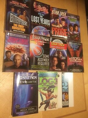 "Job Lot - 11 x Vintage "" Star Trek "" Paperback Books - Various Ages / Authors"