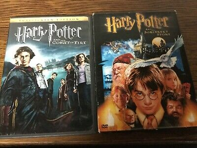 2 HARRY POTTER DVD Lot: And The SORCERER'S STONE (2 disc) &  GOBLET OF FIRE