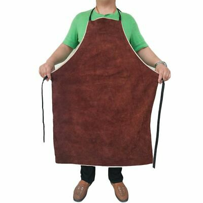 Welding Apron Heat Insulation Cow Leather Protective Flame Resistant Safety Work