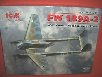 Photo-etched. 1:72 MicroDesign #MD072205 Focke-Wulf FW-189 A-1//A-2 for ICM kit