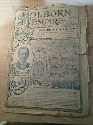 Music Hall And Variety Programme From London's Holborn Empire Theatre Dated 1916