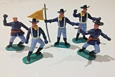 Vintage Timpo Toys US American 7th Cavalry Soldiers Figures X5