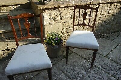 Chairs Edwardian/victorian antique fair condition for age please read details