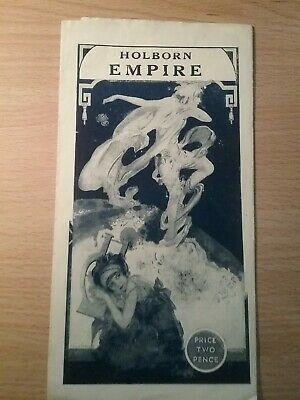 Music Hall And Variety Programme From London's Holborn Empire Dated1928.