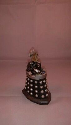 """DR WHO Classic Metal Die Cast Dalek 3"""" action figure toy *RARE* *Good Condition*"""