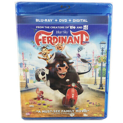 Ferdinand (Blu-ray + DVD + Digital Download 2018) Combo Pack & FREE Shipping New