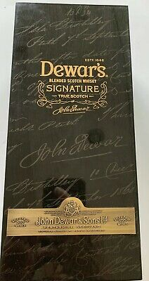 DEWARS's Blended Scotch Wisky Signature Display Box With Brass Hinges