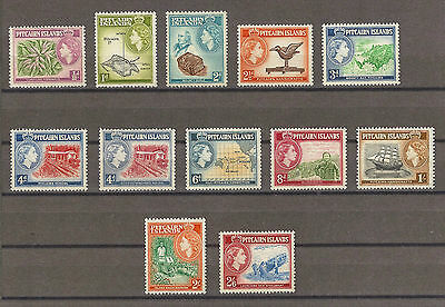 PITCAIRN ISLANDS 1957-63 SG 18/28 MNH Cat £50