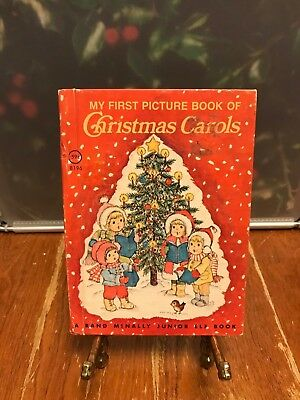 My First Picture Book Of Christmas Carols A Rand McNally Junior Elf Book 1979 HC