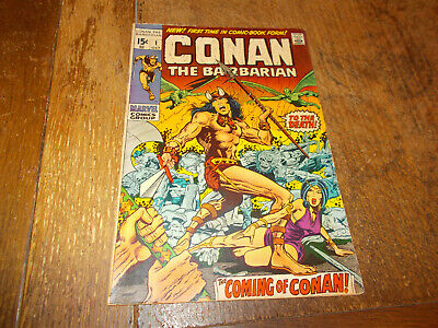 Conan the Barbarian #1 - Marvel 1970 Bronze Age US 15c 1st print VG/FN