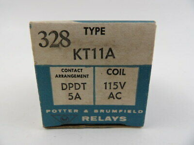 Potter & Brumfield KT11A DPDT Relay 115V AC 5 Amp P&B