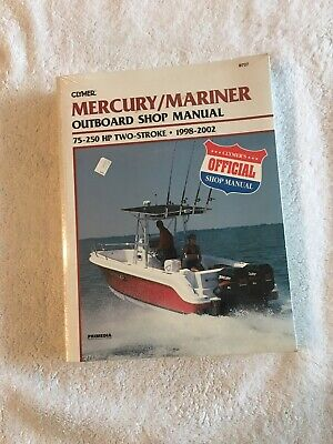 Clymer Repair Manual Mercury Outboards 75-250 1998-2002