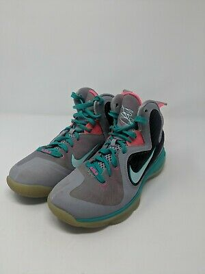 promo code d3d23 53392 Youth size 5.5 Nike LeBron 9 South Beach GS boys shoes. 472664-006