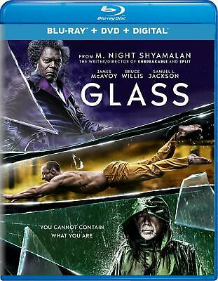Glass (Blu-ray Disc, 2019) case slip cover NO DVD or Digital Included