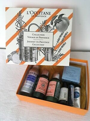 L'Occitane En Provence Gift Set Bath Shampoo Conditioner Shower Foot Hand Soap