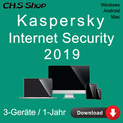 Kaspersky Internet Security 2019 *3-Geräte / 1-Jahr* DE Vollversion / KEY