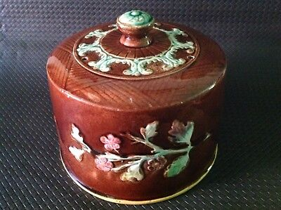 Antique Majolica Cheese Dome / Keeper Lid. *lid Only, No Base* Possibly English.