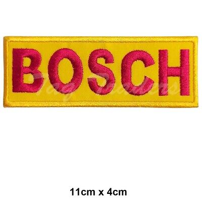 Bosch Racing Sponsor Embroidered Patch Iron on Sew On Badge UK SELLER