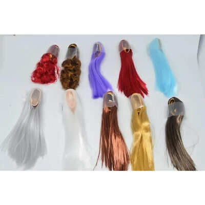 """1/6 Scale Woman Hair Wig Multi Color For 12"""" Female Head Sculpt Doll Toys"""