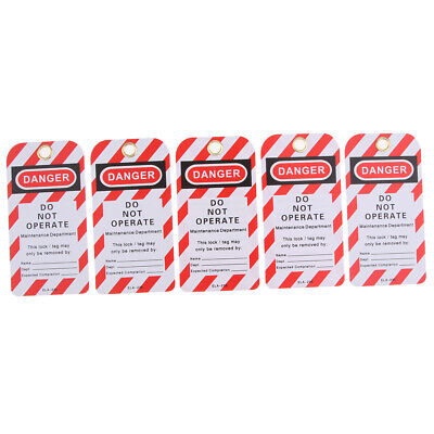 5PCS Security Key Lockout Tagout Tag Safety Name Marking Remark Card Labels