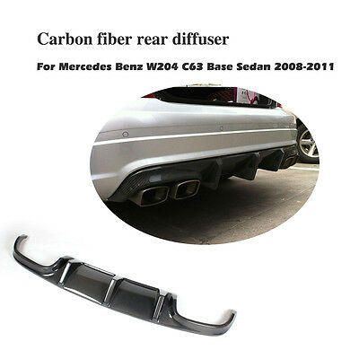 Carbon Fiber Rear Bumper Diffuser Lip Fit For Mercedes Benz W204 C63 AMG 2008-11