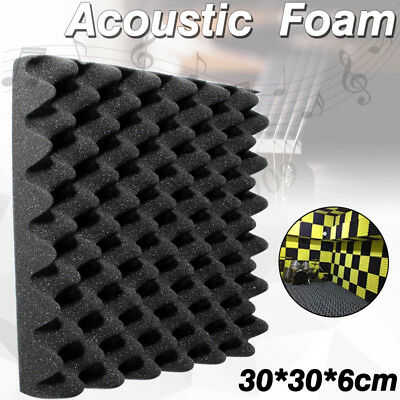 "Acoustic Soundproofing Convoluted Egg Crate Panel Studio Foam 12"" x 12"" x 2"" ❤"