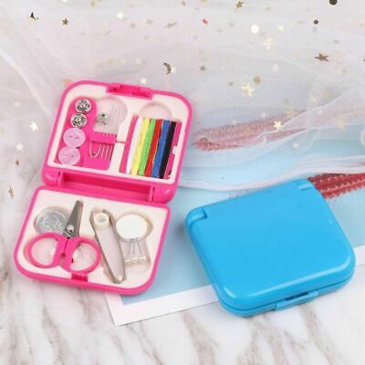 Sewing Box Small Durable Lightweight Portable Plastic Sewing-kit Home Travel Use
