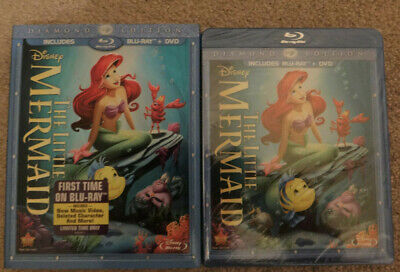 The Little Mermaid Disney (Blu-ray/DVD 2013 2 Disc Diamond Edition) Slipcover!