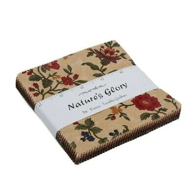 "Moda Nature's Glory Fabric Charm Pack - 45 x 5"" x 5"" squares"