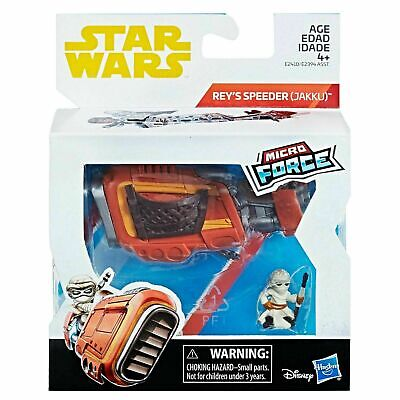 Star Wars Micro Force Rey With Speeder Bike Vehicle Beyblade Burst