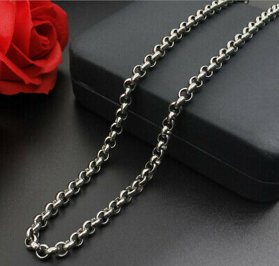 316L Stainless Steel Round Pearl Chain Necklace Women/Men Fashion Necklace Chain