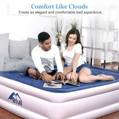 Ultra Plush Fiber-Tech Airbed Air Mattress Bed Thicken Inflatable Built-In Pump