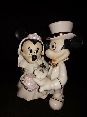 Lenox Minnie's Dream Wedding Figurine Cake Topper Micky Mouse Disney Collection