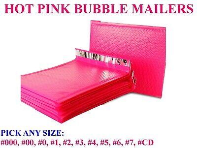 Hot Pink Poly Bubble Mailers Padded Bags Shipping Mailing Self Seal Envelopes