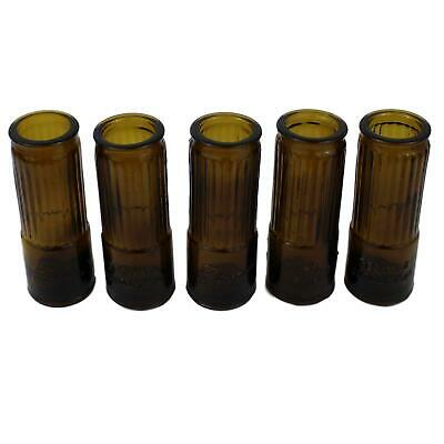 Shotgun Shell Shot Glass Tequila Corralejo Amber Set of Five Glasses