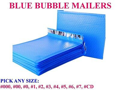 Blue Poly Bubble Mailers Padded Bags Shipping Mailing Self Seal Envelopes